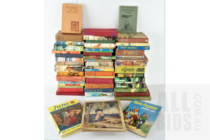 Quantity of Approximatley 50 Vintage Boys Own Books Including Pantomime Favourites, Worrals on the Warpath by Capt W E Johns, The Boys Hero of France and More