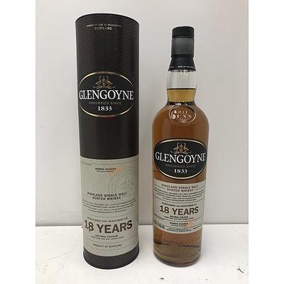 Glengoyne 18 Years Highland Single Malt Scotch Whiskey 700ml