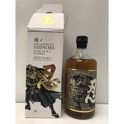 The Koshi-No Shinobu Pure Malt Whiskey Mizunara Oak 700ml