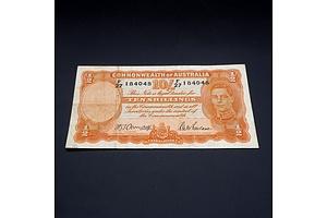 10/- 1942 Armitage McFarlane Australian Ten Shilling Banknote R13 F27184048