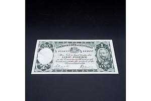 £1 1933 Riddle Sheehan Australian One Pound Banknote R28 L9022697