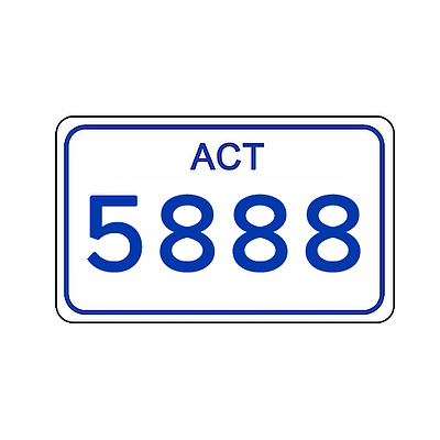 ACT Number Plate 5888