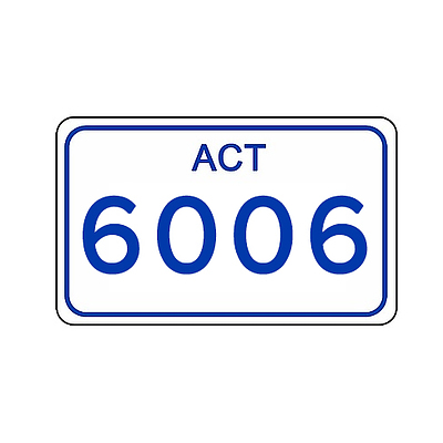 ACT Number Plate 6006