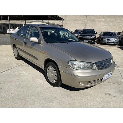 10/2004 Nissan Pulsar ST N16 MY04 4d Sedan Gold 1.8L
