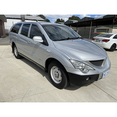 3/2009 Ssangyong Actyon Sports Tradie Q100 MY08 Double Cab Utility Silver 2.0L