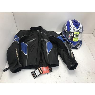 M2R Motorcycle Jacket With Shark Helmet