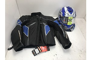 M2R Motorcycle Jacket With Shark Helmet