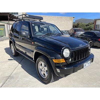 9/2007 Jeep Cherokee Limited (4x4) KJ MY05 UPGRADE II 4d Wagon Black 2.8L