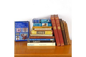Collection Antique and Vintage Books, Relating to Antiques Including Vol 1-2 The Worlds Greatest Pictures, Great Masters
