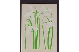 Danka Napiorkowska (1946-) Snow Drops Limited Edition Lithograph