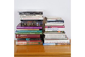 Collection of Wine Reference Books