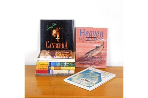 Collection Books Relating to Canberra Including Signed Chris Hole Heaven on a Stick and Signed Heide Smith Canberra