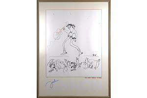 Limited Edition John Lennon, Its Only Rock n Roll, Lithograph, 748/4000, Circa 1980s