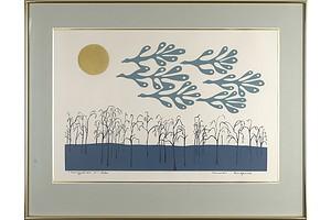 Muriel Ingevics (1935-), Migration 4, Screenprint, 9/50