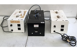 Dick Smith 240V to 115V Step Down Transformers And ATCO 1000W  - Lot Of Three