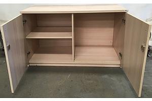Beige Melamine 2 Door Lockable Storage Cabinet