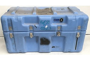 Blue Heavy-Duty Cargo Transport Case w/ Foam Insert