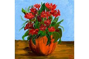 Craig McArthur, Fleur Rouge 2021, Oil on Canvas