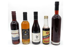 Five various half Bottle Wines and Liquors (5)