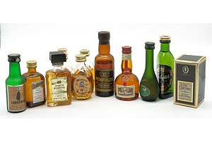 12 Various Miniature Spirits and other Liquors