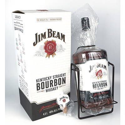 Jim Beam Kentucky Straight Bourbon Whiskey 4.5 liter on Swing Caddy