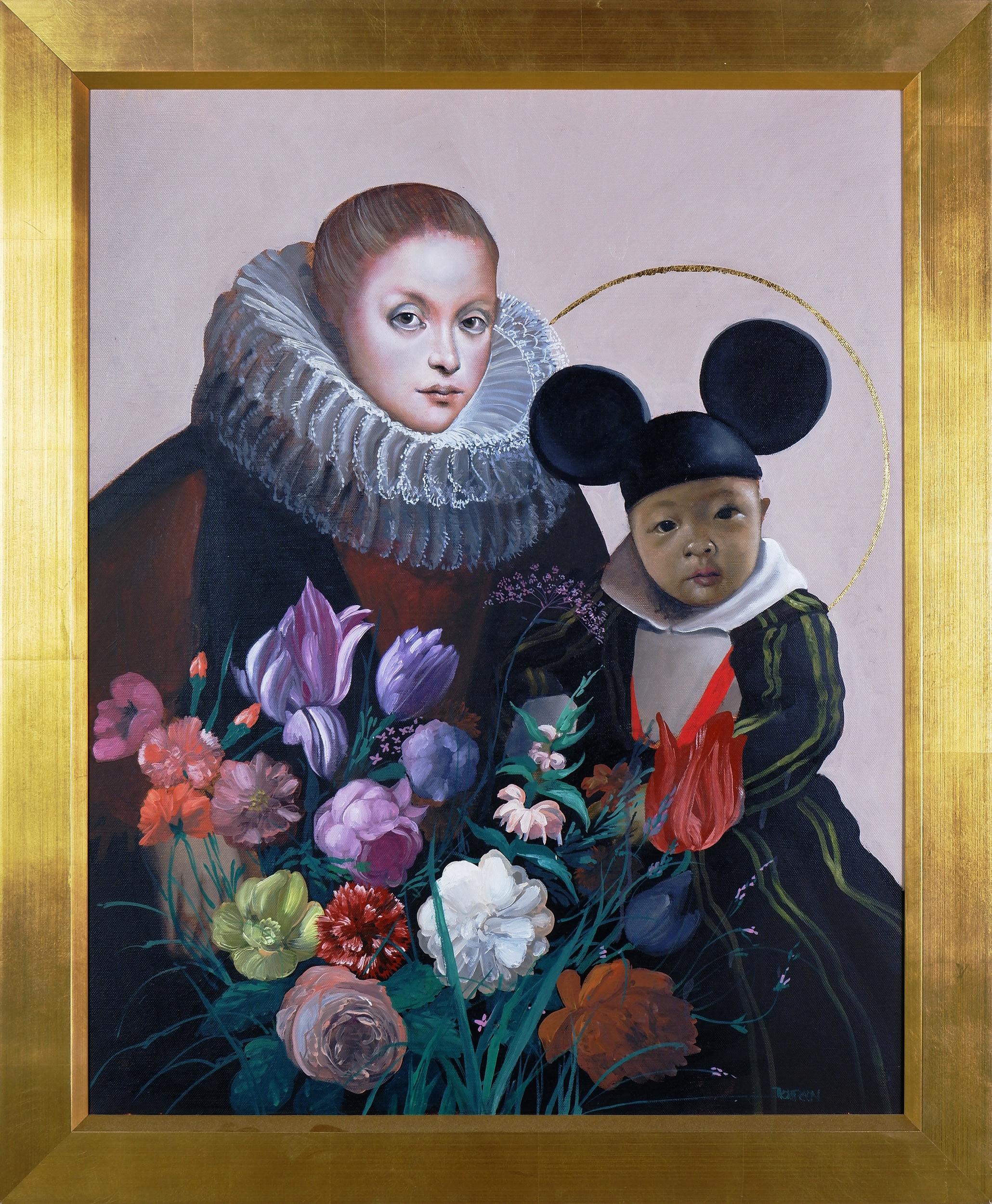 'Mark Thompson (born 1949), Mao Mouse 2012, Oil on Canvas, 76 x 61 cm'