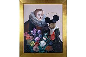 Mark Thompson (born 1949), Mao Mouse 2012, Oil on Canvas, 76 x 61 cm