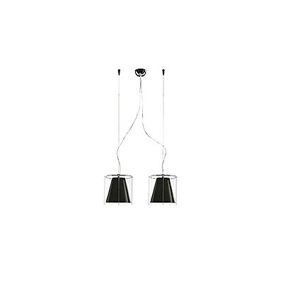 SLAMP Harris Double Black/Transparent Suspension Lamps -Lot Of 16