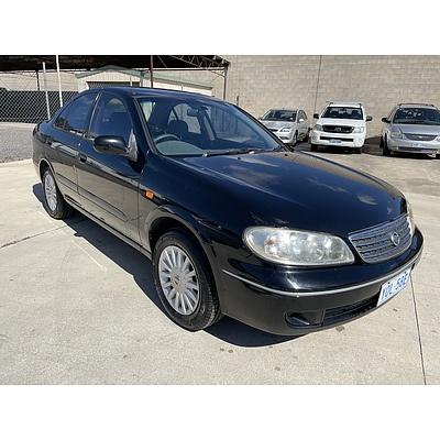 3/2004 Nissan Pulsar ST-L N16 MY04 4d Sedan Black 1.8L