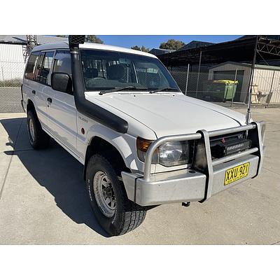 9/1996 Mitsubishi Pajero GL LWB (4x4) NK 4d Wagon White 3.0L