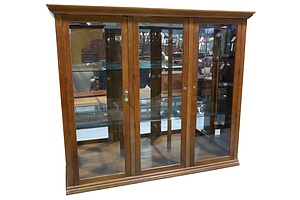 Large Bespoke Maple Framed Display Cabinet