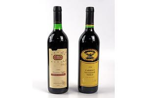 Grant Burge Cameron Vale 1995 Cabernet Sauvignon and Wolf Blass yellow Label 1996 Cabernet Shiraz (2)