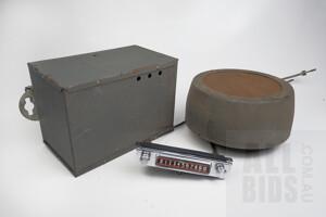 Antique Tasma Car Radio Set - Head Unit, Tuner Box and Speaker