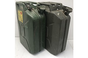 20L Metal Fuel Containers -Lot Of Two