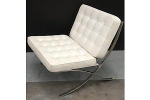 Cream Replica Barcelona Chair