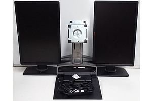 Dell P2213t 22 Inch Widescreen LCD Monitor & Dell PROX2 E-Port Docking Station - Lot of Two