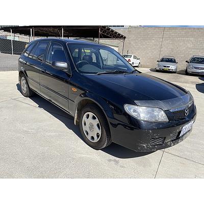 10/2002 Mazda 323 Astina  5d Hatchback Black 1.8L