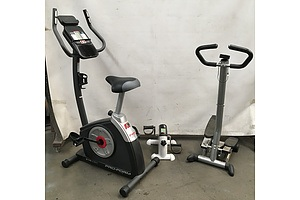 Exercise Machines, Including Stepper And Bike - Lot Of 3