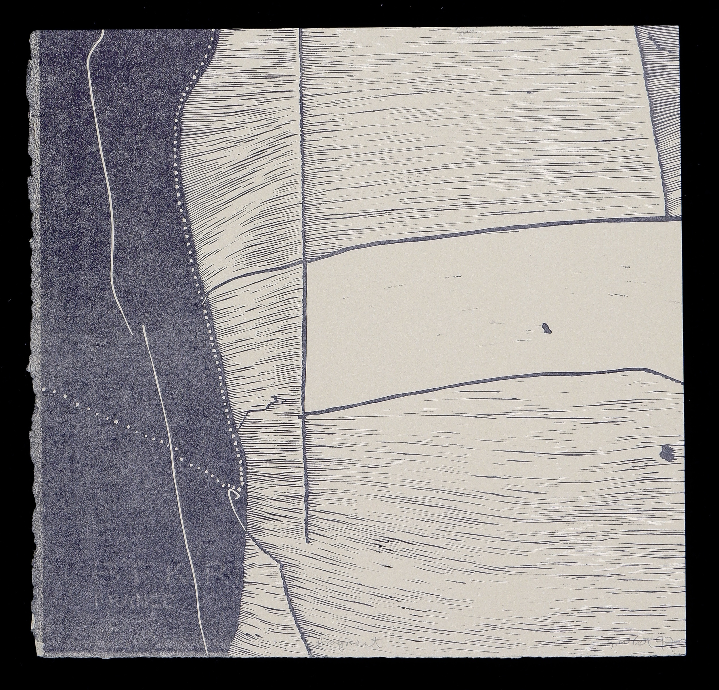 'G. W. Bot (born 1954), Fragment 1997, Linocut, 27 x 28 cm (image size)'