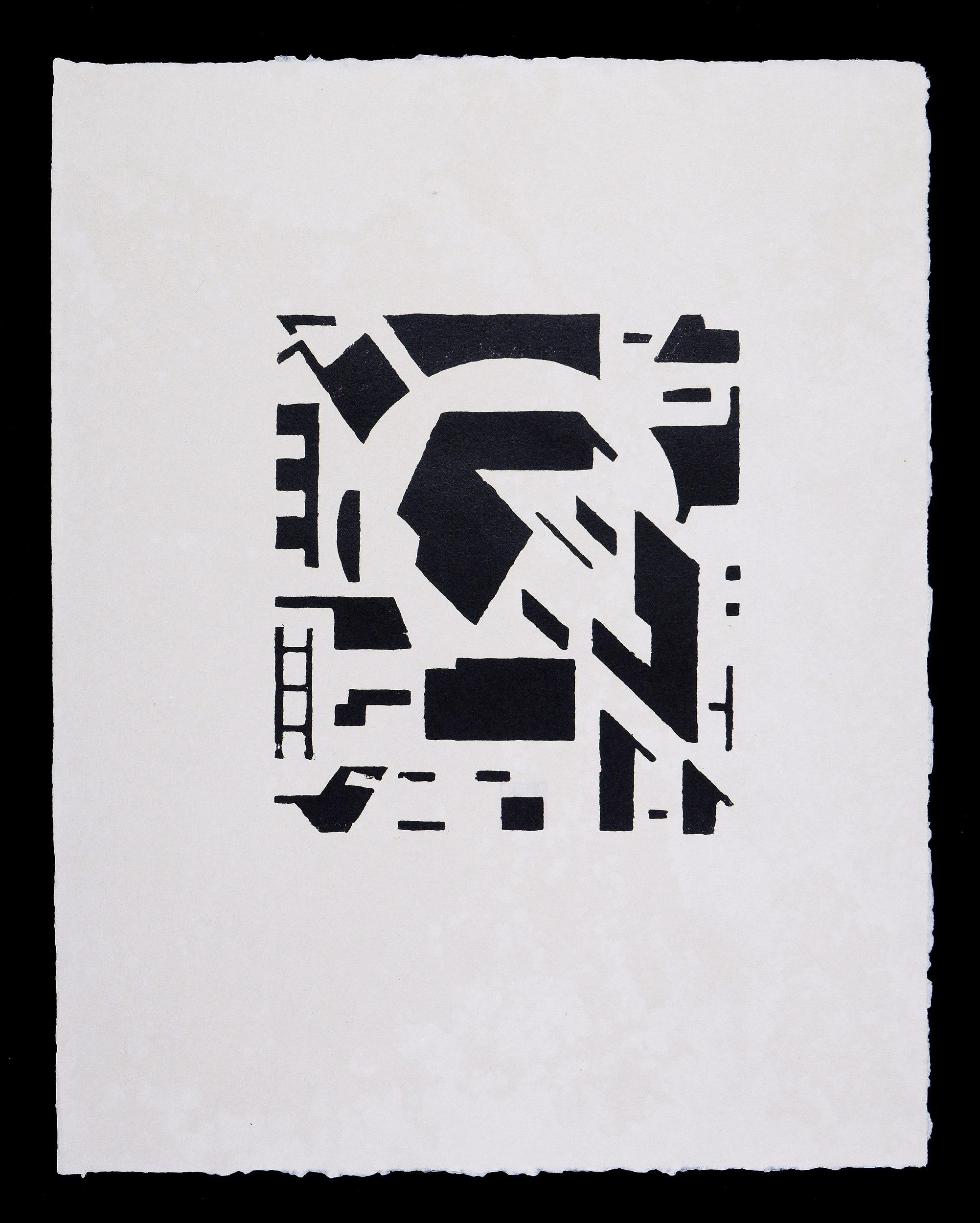 'Erich Buchholz (1891-1972, German), No. 6 1918/21, Woodcut, 23 x 21 cm (image size)'
