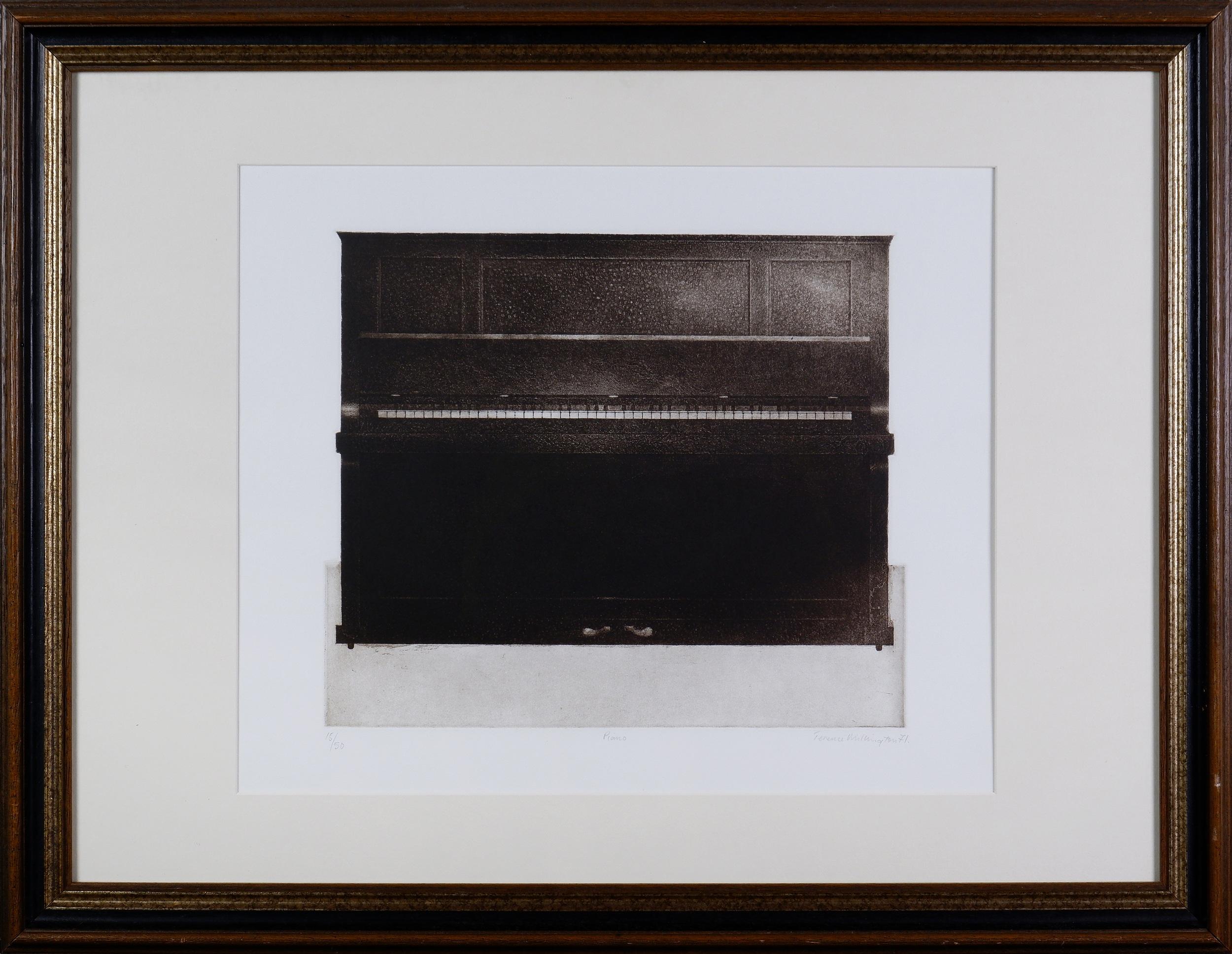 'Terence Millington (born 1943, British), Piano 1971, Etching & Aquatint Edition 16/50, 37.5 x 28 cm (image size)'