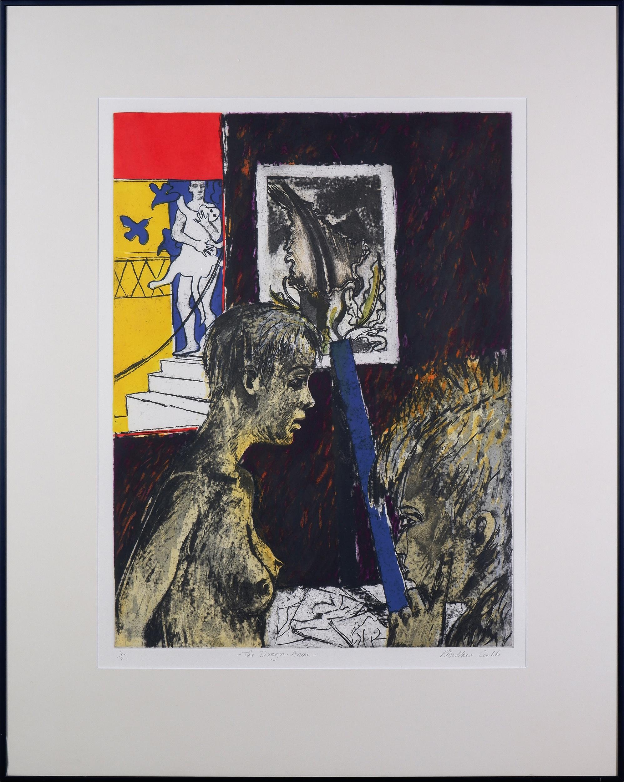 'Robin Wallace-Crabbe (born 1938), The Dragon Arum, Linocut, Edition 3/21, 60 x 45 cm (image size)'