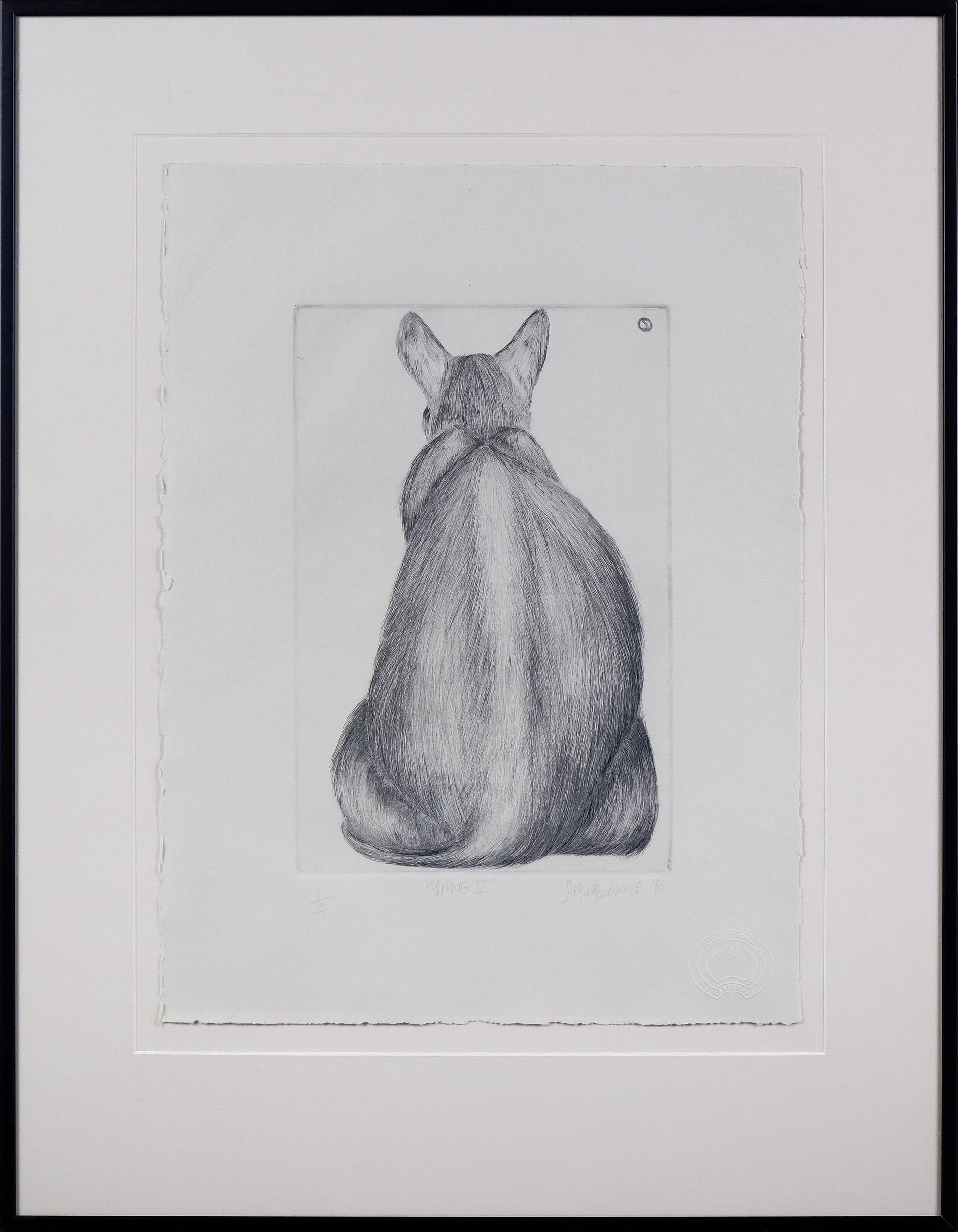 'Sarah Owens (working 1980s, Australian), Yang V 1983, Sugarlift Aquatint, Edition 1/4, 25 x 16 cm (image size)'
