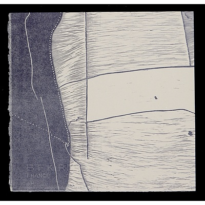 G. W. Bot (born 1954), Fragment 1997, Linocut, 27 x 28 cm (image size)