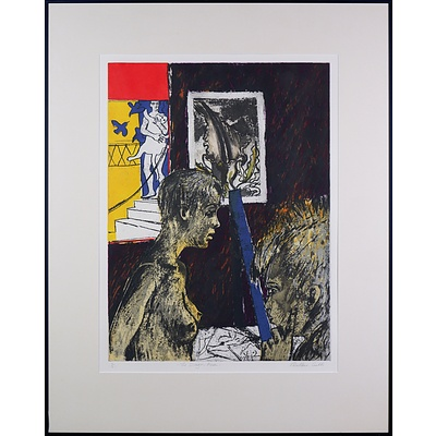 Robin Wallace-Crabbe (born 1938), The Dragon Arum, Linocut, Edition 3/21, 60 x 45 cm (image size)