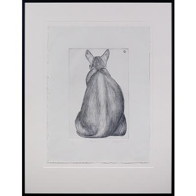 Sarah Owens (working 1980s, Australian), Yang V 1983, Sugarlift Aquatint, Edition 1/4, 25 x 16 cm (image size)