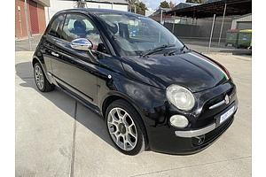 3/2009 Fiat 500 Sport  3d Hatchback Black 1.4L