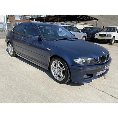 9/2003 Bmw 3 25i E46 4d Sedan Blue 2.5L