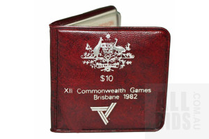AUSTRALIA: 1982 $10 SILVER Coin - Commonwealth Games