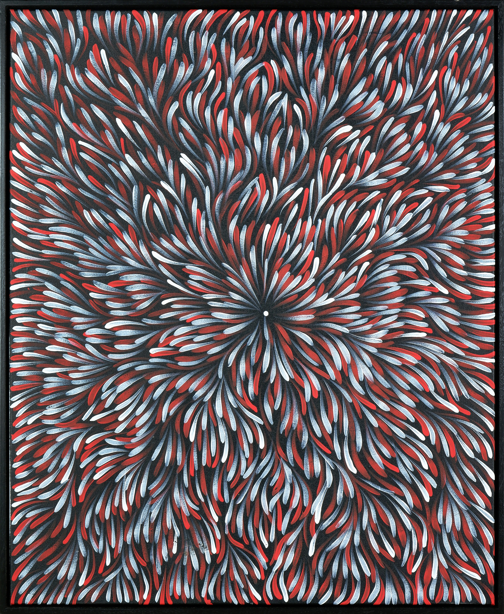 'Margaret Price (born c1945, Anmatyerre/ Alyawarr language group), Bush Medicine, Synthetic Polymer Paint on Canvas, 90 x 73 cm'